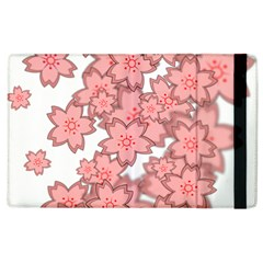 Flower Floral Pink Apple Ipad 3/4 Flip Case by Alisyart