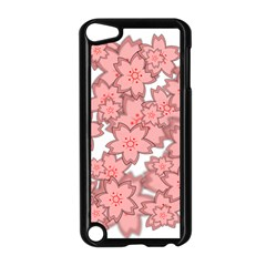 Flower Floral Pink Apple Ipod Touch 5 Case (black) by Alisyart
