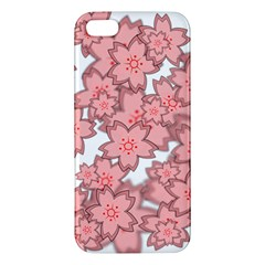 Flower Floral Pink Iphone 5s/ Se Premium Hardshell Case by Alisyart