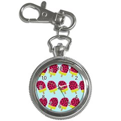 Watermelonn Red Yellow Blue Fruit Ice Key Chain Watches by Alisyart