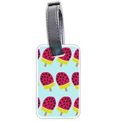 Watermelonn Red Yellow Blue Fruit Ice Luggage Tags (two Sides) by Alisyart
