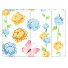Rose Flower Floral Blue Yellow Gold Butterfly Animals Pink Samsung Galaxy Tab 7  P1000 Flip Case by Alisyart