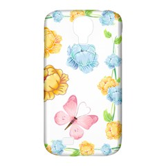Rose Flower Floral Blue Yellow Gold Butterfly Animals Pink Samsung Galaxy S4 Classic Hardshell Case (pc+silicone) by Alisyart