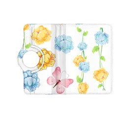 Rose Flower Floral Blue Yellow Gold Butterfly Animals Pink Kindle Fire Hd (2013) Flip 360 Case by Alisyart