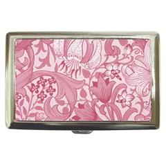 Vintage Style Floral Flower Pink Cigarette Money Cases by Alisyart