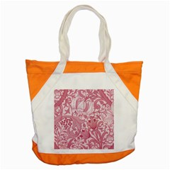 Vintage Style Floral Flower Pink Accent Tote Bag by Alisyart