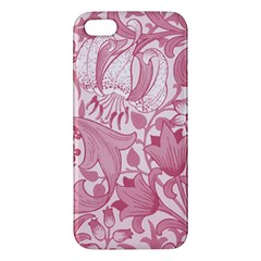 Vintage Style Floral Flower Pink Apple Iphone 5 Premium Hardshell Case by Alisyart
