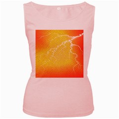 Exotic Backgrounds Women s Pink Tank Top by Simbadda