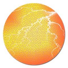 Exotic Backgrounds Magnet 5  (round) by Simbadda