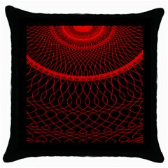 Red Spiral Featured Throw Pillow Case (black)