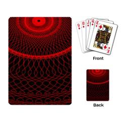 Red Spiral Featured Playing Card by Alisyart