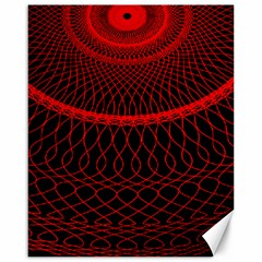 Red Spiral Featured Canvas 16  X 20   by Alisyart