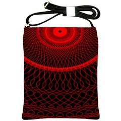 Red Spiral Featured Shoulder Sling Bags by Alisyart