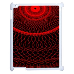 Red Spiral Featured Apple Ipad 2 Case (white) by Alisyart