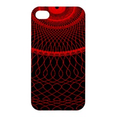 Red Spiral Featured Apple Iphone 4/4s Premium Hardshell Case by Alisyart