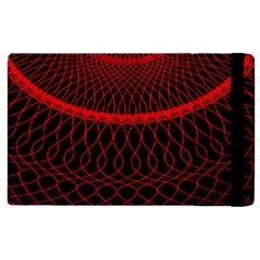 Red Spiral Featured Apple Ipad 3/4 Flip Case by Alisyart