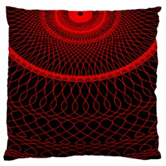 Red Spiral Featured Standard Flano Cushion Case (one Side) by Alisyart