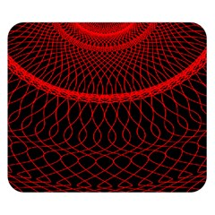 Red Spiral Featured Double Sided Flano Blanket (small)  by Alisyart