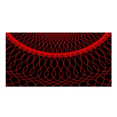 Red Spiral Featured Satin Shawl by Alisyart