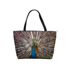 Indian Peacock Plumage Shoulder Handbags by Simbadda