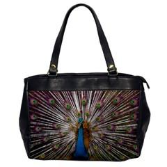 Indian Peacock Plumage Office Handbags by Simbadda