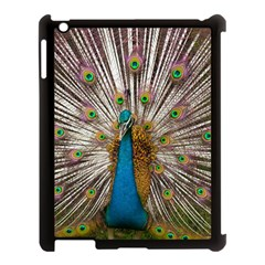 Indian Peacock Plumage Apple Ipad 3/4 Case (black) by Simbadda