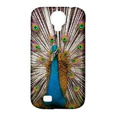 Indian Peacock Plumage Samsung Galaxy S4 Classic Hardshell Case (pc+silicone) by Simbadda