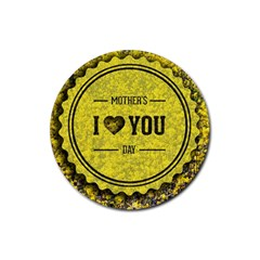 Happy Mother Day Rubber Round Coaster (4 Pack)