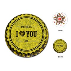 Happy Mother Day Playing Cards (round)  by Simbadda