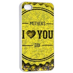 Happy Mother Day Apple Iphone 4/4s Seamless Case (white) by Simbadda