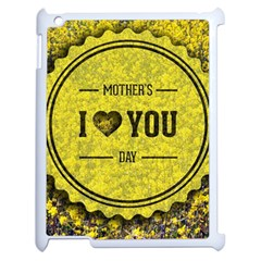 Happy Mother Day Apple Ipad 2 Case (white) by Simbadda