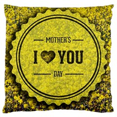 Happy Mother Day Large Flano Cushion Case (two Sides) by Simbadda