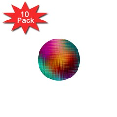 Colourful Weave Background 1  Mini Buttons (10 Pack)  by Simbadda