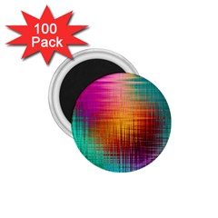 Colourful Weave Background 1 75  Magnets (100 Pack)  by Simbadda