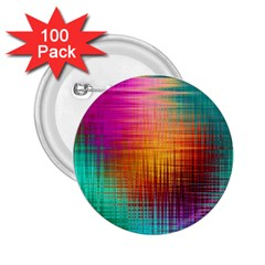 Colourful Weave Background 2 25  Buttons (100 Pack)  by Simbadda