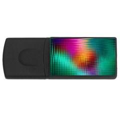 Colourful Weave Background Usb Flash Drive Rectangular (4 Gb) by Simbadda