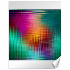 Colourful Weave Background Canvas 12  X 16   by Simbadda