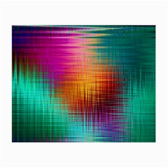 Colourful Weave Background Small Glasses Cloth (2 Side) by Simbadda