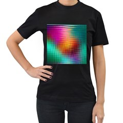 Colourful Weave Background Women s T Shirt (black) by Simbadda