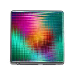 Colourful Weave Background Memory Card Reader (square) by Simbadda