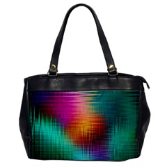 Colourful Weave Background Office Handbags by Simbadda