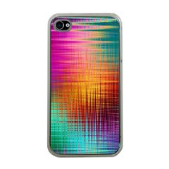 Colourful Weave Background Apple Iphone 4 Case (clear) by Simbadda