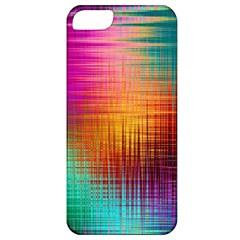 Colourful Weave Background Apple Iphone 5 Classic Hardshell Case by Simbadda