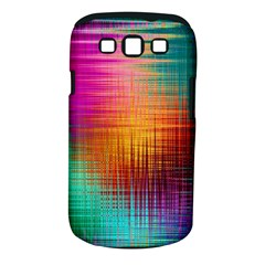 Colourful Weave Background Samsung Galaxy S Iii Classic Hardshell Case (pc+silicone) by Simbadda