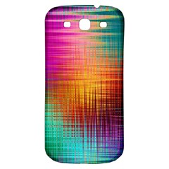 Colourful Weave Background Samsung Galaxy S3 S Iii Classic Hardshell Back Case by Simbadda