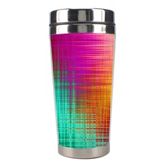 Colourful Weave Background Stainless Steel Travel Tumblers by Simbadda