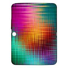 Colourful Weave Background Samsung Galaxy Tab 3 (10 1 ) P5200 Hardshell Case  by Simbadda
