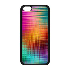 Colourful Weave Background Apple Iphone 5c Seamless Case (black) by Simbadda
