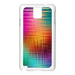 Colourful Weave Background Samsung Galaxy Note 3 N9005 Case (white) by Simbadda