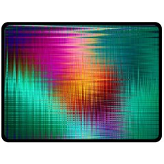 Colourful Weave Background Double Sided Fleece Blanket (large)  by Simbadda